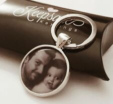 Personalised Custom Photo Keyring Chain Valentines Day Birthday Present Gift Box