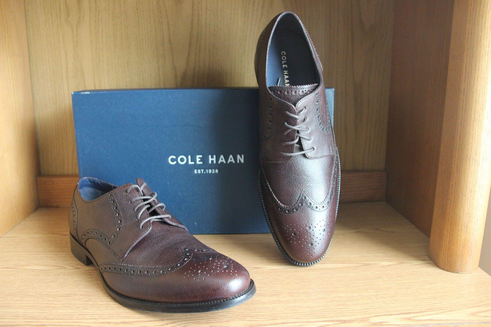 Cole Haan Benton Wingtip Oxford II shoes Mahogany Brown Men Size 11.5 C25623