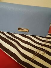 NEW No Tags Henri Bendel Cell Phone Blue Case and Wallet Dust Bag MSRP $68