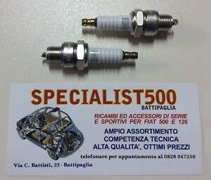 FIAT  500 F - L - R - 126   COPPIA   CANDELE   CHAMPIONS