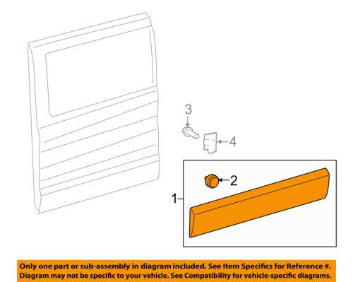 FORD OEM Transit-350 Side Sliding Door-Lower Molding Trim Right BK3Z6125532AC