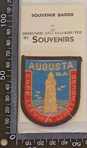 VINTAGE-CAPE-LEEUWIN-LIGHTHOUSE-AUGUSTA-EMBROIDERED-SOUVENIR-PATCH-CLOTH-BADGE