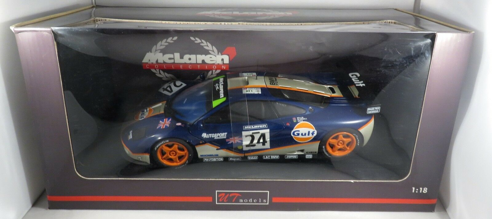 McLaren bmw f1 GTR gt1 bluendell Room Bellm Gulf gtc 4th Le Mans 1995 UT 1 18