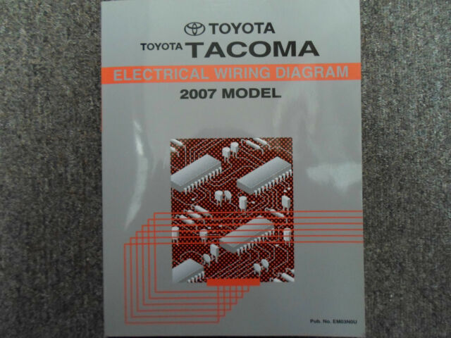 2009 Toyota Tacoma Electrical Wiring Diagram Service Shop Repair Manual Ewd Oem