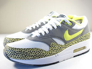 fregar cristiano Multiplicación  DS NIKE 2009 AIR MAX 1 SAFARI VOLTAGE YELLOW 9.5 ATMOS PATTA ...