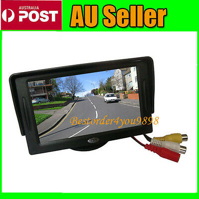 "4.3"" TFT LCD Car Rear View Reversing Color Monitor DVD VCR For Backup Camera"