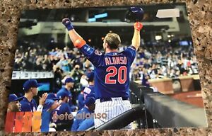 """PETE ALONSO 2020 TOPPS STADIUM CLUB 4 1/4""""X 6""""  OVERSIZED BOXLOADER CARD! METS!"""