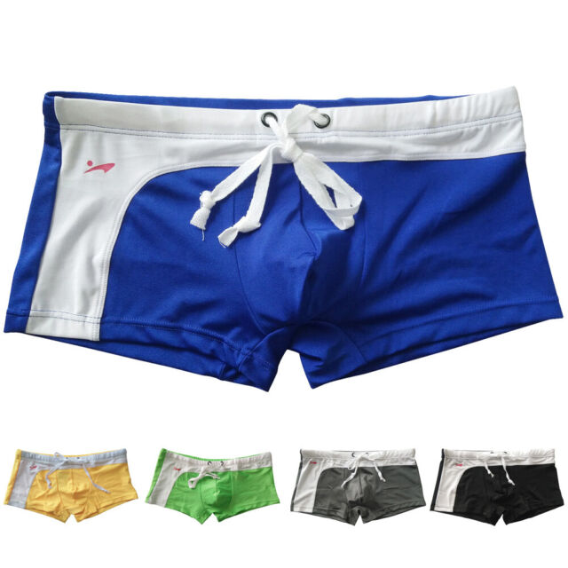 Pouch Pants Mesh Trunks Swimwear Hot Boxer Briefs Beach Underwear Shorts Mens
