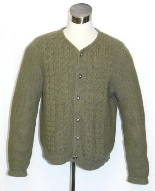LODEN BOILED WOOL Winter SWEATER Jacket LONG SLEEVES Cardigan Men WARM 46