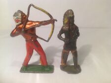 Indians , (my Ref Gr 706) Metal, Damaged, One Is Britains.