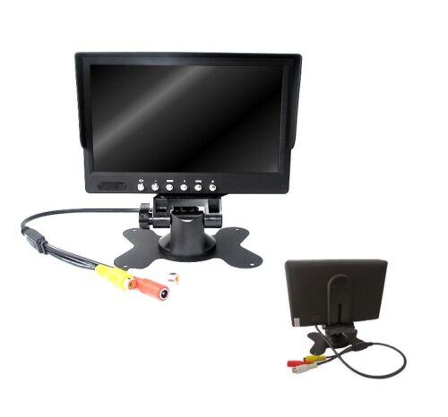 """MONITOR LED TFT 7"""" COLORI AUTO CAMPER TELECOMANDO RETROMARCIA TV CONSOLE"""