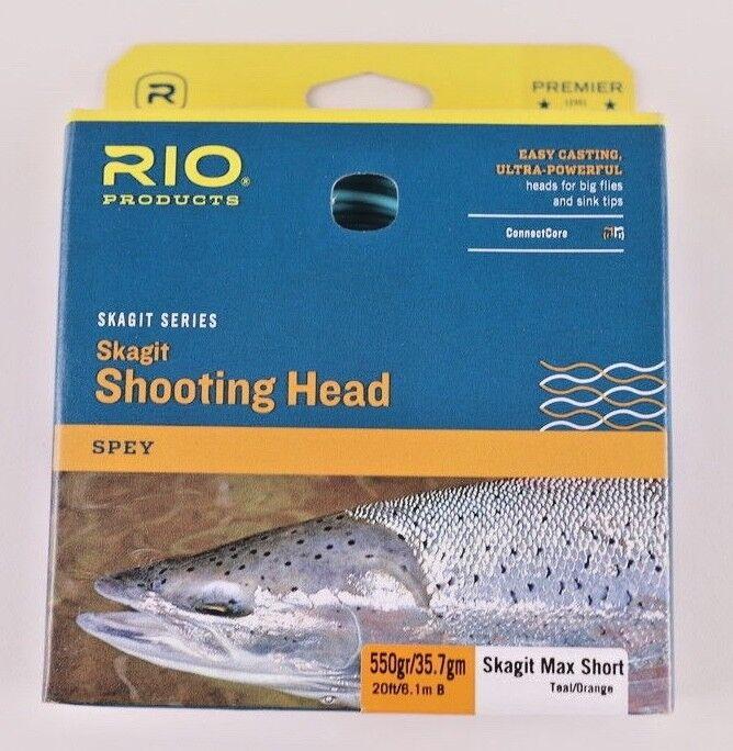 Rio Skagit Max Short 550 Grain Shooting Head gratuito Fast Shipping 620994