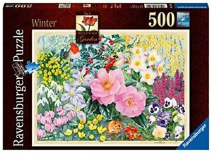 Ravensburger-The-Cottage-Garden-No-4-Winter-500-Piece-Jigsaw-Puzzle-Flowers