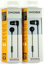 Lot of (2)KOSS Pathfinderk Pathfinder In-Ear Headphones/Earbuds (black)