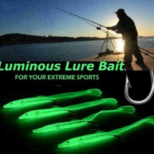 6.8cm E6G5 10pcs Luminescent kleiner Karpfen mit Haken Fischköder Angeln 5.6cm