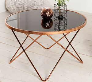 Image Is Loading Coffee Table Round Side Table Paris 85cm Art