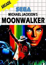A4 juego de Sega Master System cartel – Michael Jackson'S MOONWALKER (impresión de foto)