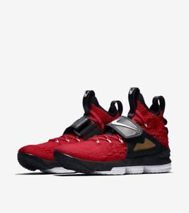 on sale 9a677 3df82 Image is loading NIKE-LEBRON-XV-PRIME-039-RED-DIAMOND-TURF-