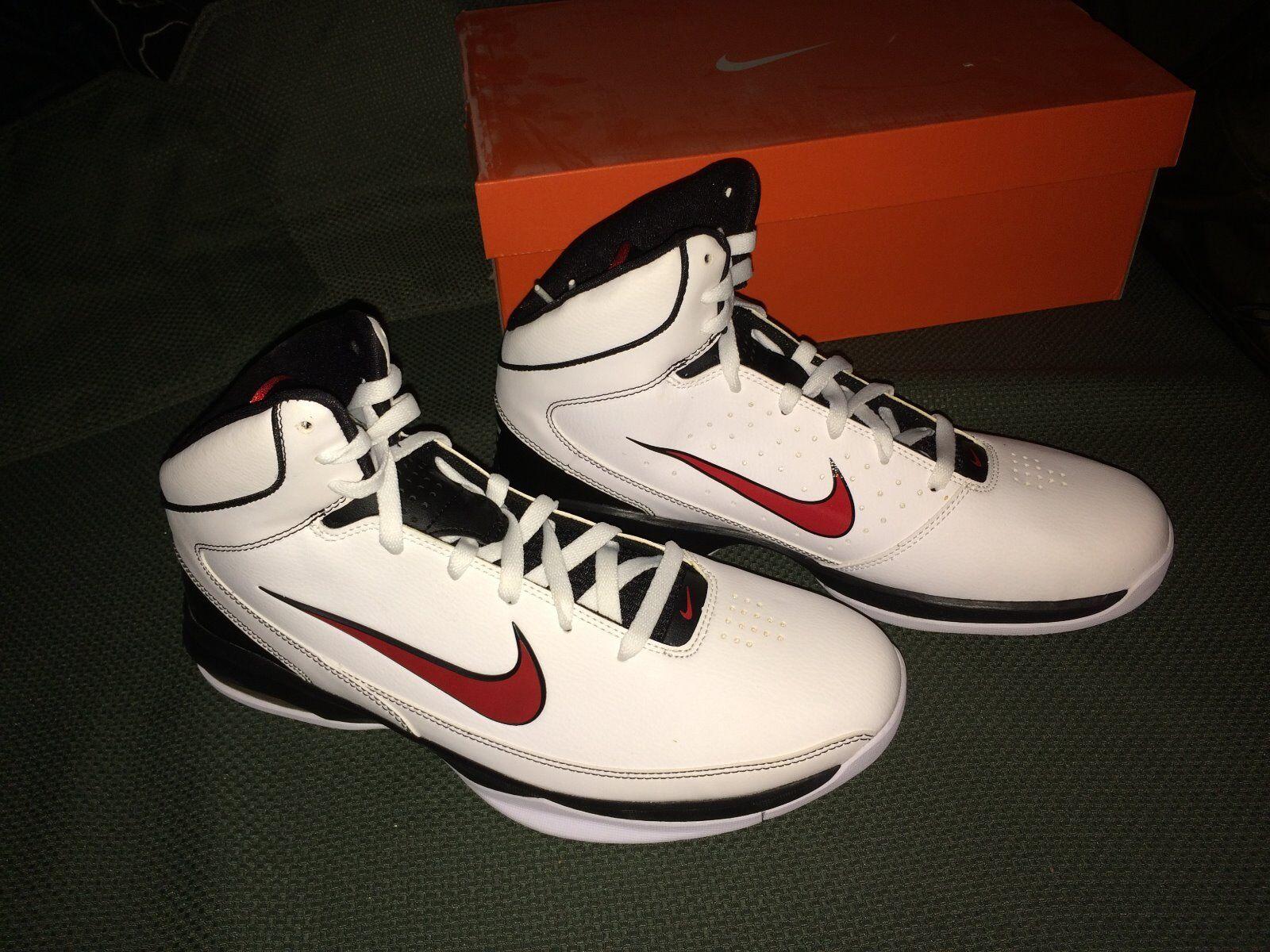 Nike air max ostentate bianco rosso taglia - nero basket scarpe taglia rosso uomini noi 11 13032c