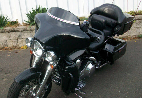 "4/"" Black Harley Davidson Windshieldfor 2014 /& up  FLH TOURING DRESSER FLHX"