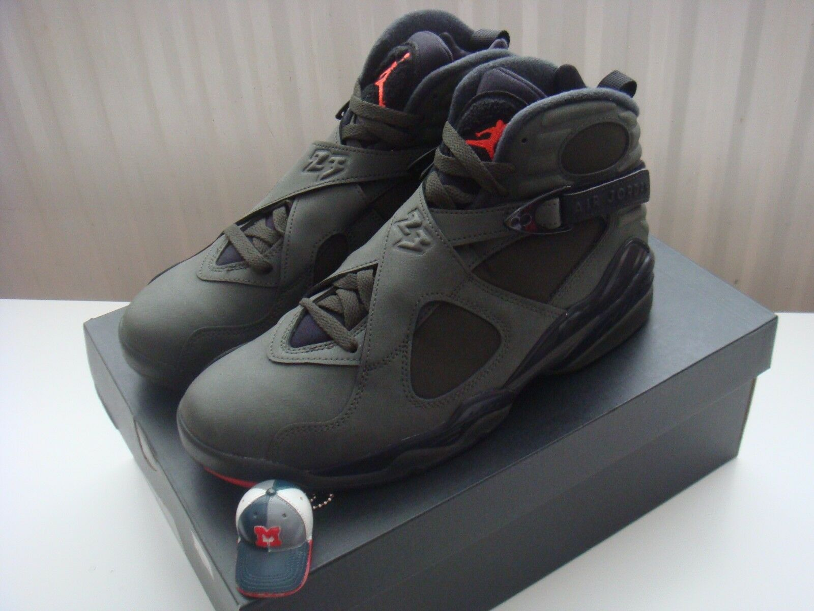 Nike Air Jordan VIII 8 Retro Take Flight 9.5/UK Etats-Unis 8.5 Olive/Undftd/Playoff/Aqua