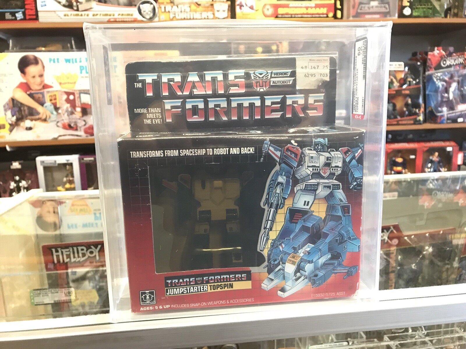 1985 Transformers Jahr serie 2 JumpSternter topspin Meerled AFA 60Y