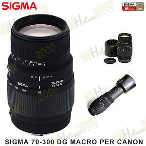 OBIETTIVO-SIGMA-EF-70-300-DG-CANON-EOS-700D-750D-760D-650D-600D-450D-1200D-1100D