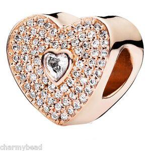 f96a854148086 Details about New Genuine Pandora PANDORA Rose™ & Zirconia 💜 Sweetheart  Charm 💜 781555CZ