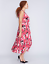 LANE-BRYANT-Printed-Pleated-Skirt-Dress-14-16-18-20-22-24-26-28-Pink-1x-2x-3x-4x thumbnail 2