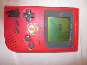 Rare Red Original Nintendo Game Boy Handheld System Manchester United Logo Ebay