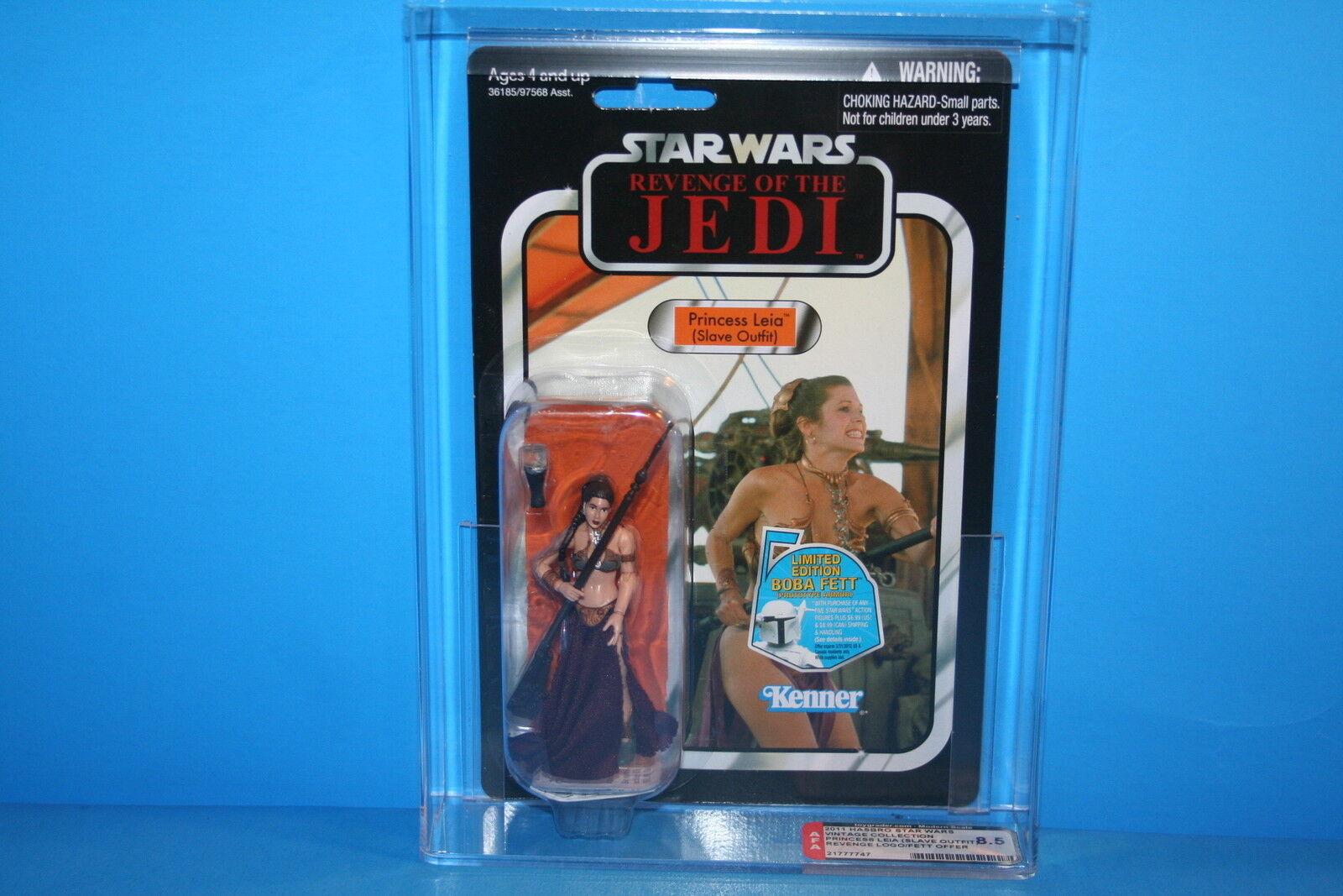 Star Wars Afa clasificados 2011 Tvc menta en tarjeta figura Esclava Leia  la venganza  Logo 8.5