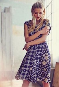 82722f0530221 Image is loading Maeve-Anthropologie-Indiga-Swing-Dress-Blue-Floral-Tassel-