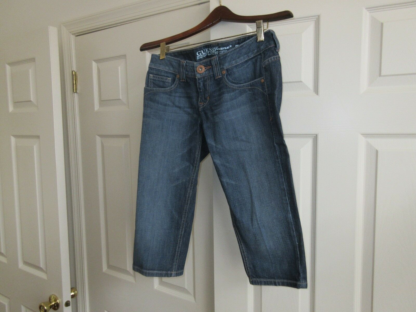 Guess , Capri , Ladies Jeans , Blue , Size 27 , Vintage