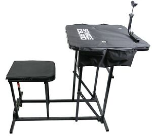 Awe Inspiring Details About Shooting Table Bench Rest Rifle Target Range Gun Rest With Padded Seat Chair Pdpeps Interior Chair Design Pdpepsorg