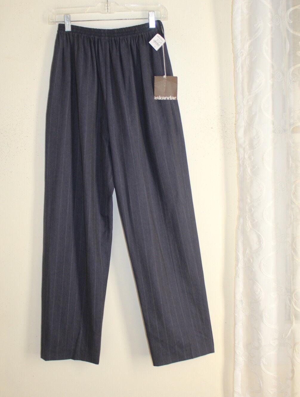 NWT Eskandar Sz 0 Rich Dark Fine Wool Unusual DENIM blueE Regular Trouser Pants