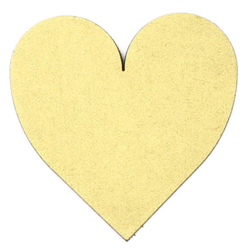 Painted 3mm MDF Gold Wooden Laser Cut Tags Scrapbook Topper Gold Hearts