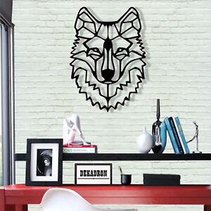 Metal Wolf Head Wall Art