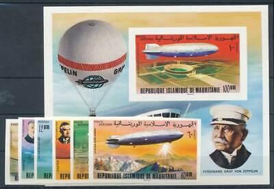 Begeistert 584379 Maurentanien Nr.539-544b+bl.15b** Zeppeline Briefmarken