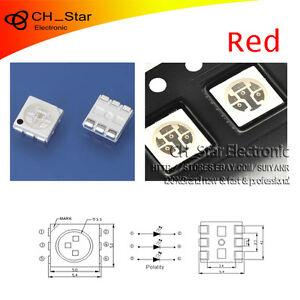 100PCS-SMD-5050-SMT-2020-PLCC-6-3-chips-Rojo-LED-Chip-diodos-emisores-de-luz
