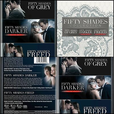Fifty Shades Of Grey 3 Trilogy Movie Collection Dvd Theatrical Version Subtittle Ebay