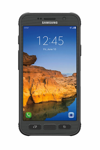 Samsung Galaxy S7 Active Sm G891 32gb Titanium Gray At T Smartphone For Sale Online Ebay