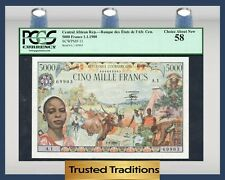 TT PK 11 1980 CENTRAL AFRICAN REPUBLIC 5000 FRANCS PCGS 58 CHOICE ABOUT NEW!