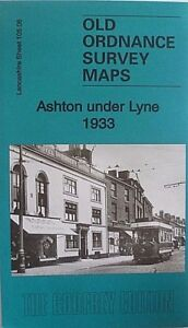 Old-Ordnance-Survey-Maps-Ashton-under-Lyne-Lancashire-1933-Sheet-105-06-New