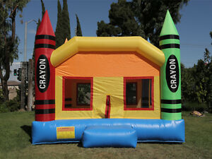 NEW Commercial Grade Crayon Castle Inflatable Jumper