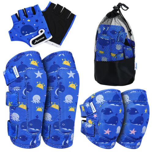 6pcs//set Protective Gear Kids Sports Bike Bicycle Elbow and Knee Pad For Kids