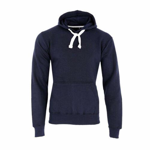 Mens Plain Coloured Pullover Hoodie Fleece Jacket Hooded Tops Hoody Sweatshirt