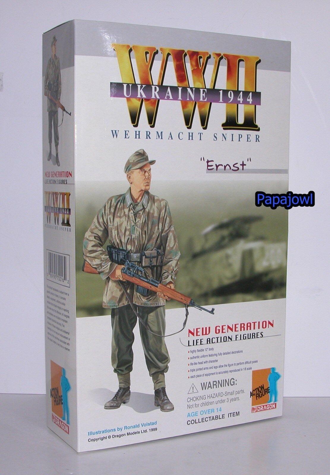 New Generation Dragon WWII Ukraine 1944 Wehrmacht Sniper  Ernst  12  Figure