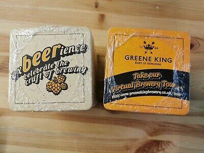 200 x GREENE KING Beer mats New