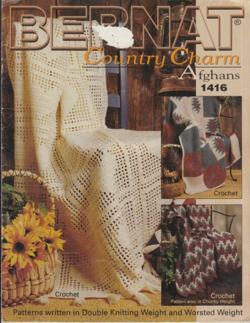 Bernat Country Charms Afghans crochet pattern book