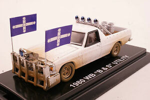 Road-Ragers-1980-Holden-WB-V8-Ute-039-B-amp-S-039-Alabaster-White-Dirt-Look-Diecast-1-64